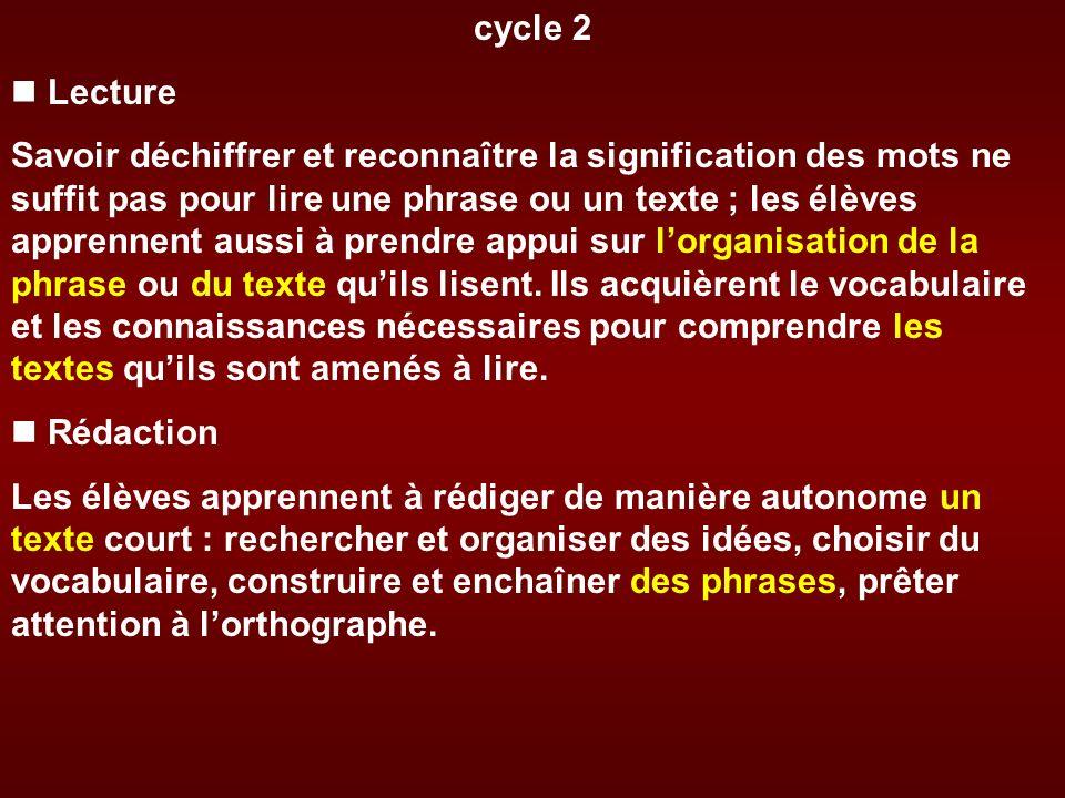 La conjugaison du verbe Cycle 2 Ils apprennent à conjuguer les verbes les plus fréquents, des verbes du 1er groupe, être, avoir, aux quatre temps les plus utilisés de lindicatif : présent, futur, imparfait, passé composé.