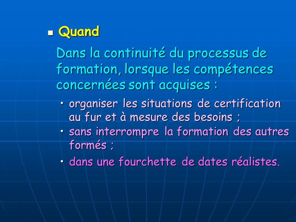 Comment identifier des situations de certification .