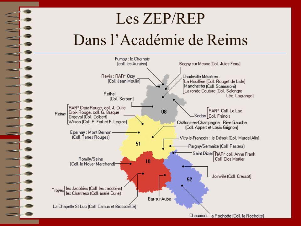 Les ZEP/REP Dans lAcadémie de Reims