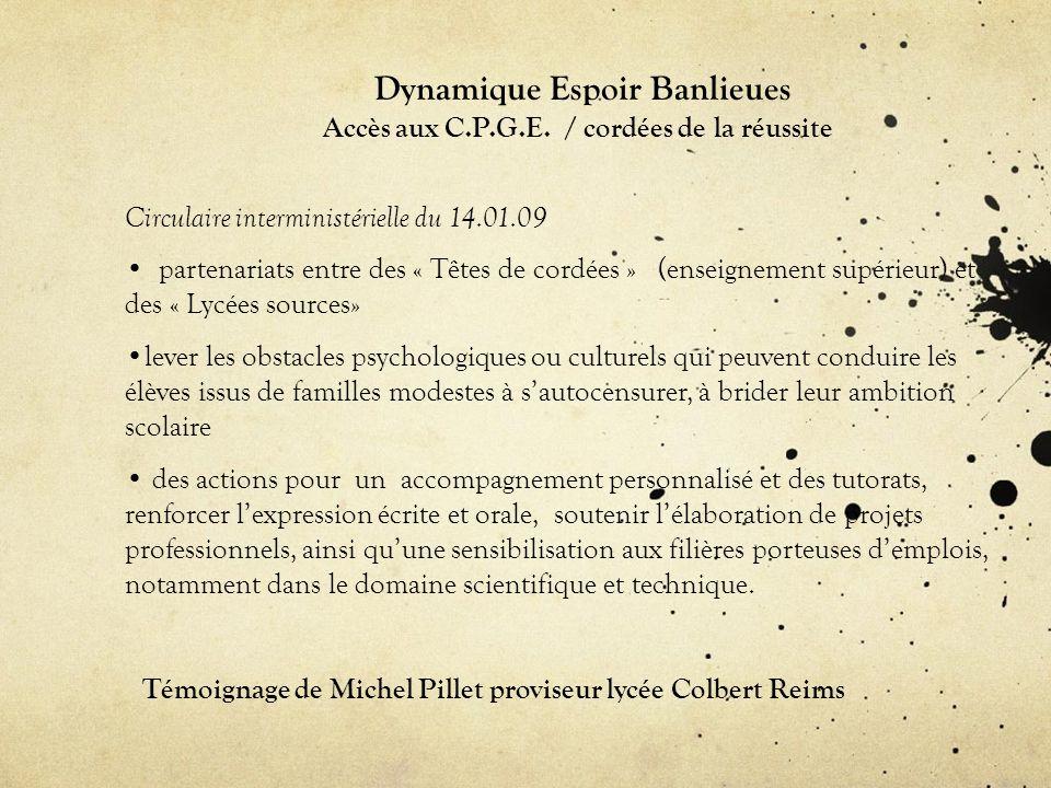 Dynamique Espoir Banlieues Accès aux C.P.G.E.