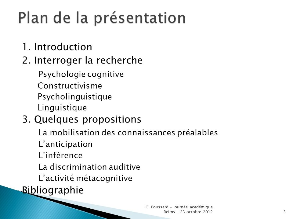 Une perspective didactique stratégique pour aider lapprenant à développer des capacités autour de : - la mobilisation de connaissances - lanticipation et linférence - la discrimination auditive C.