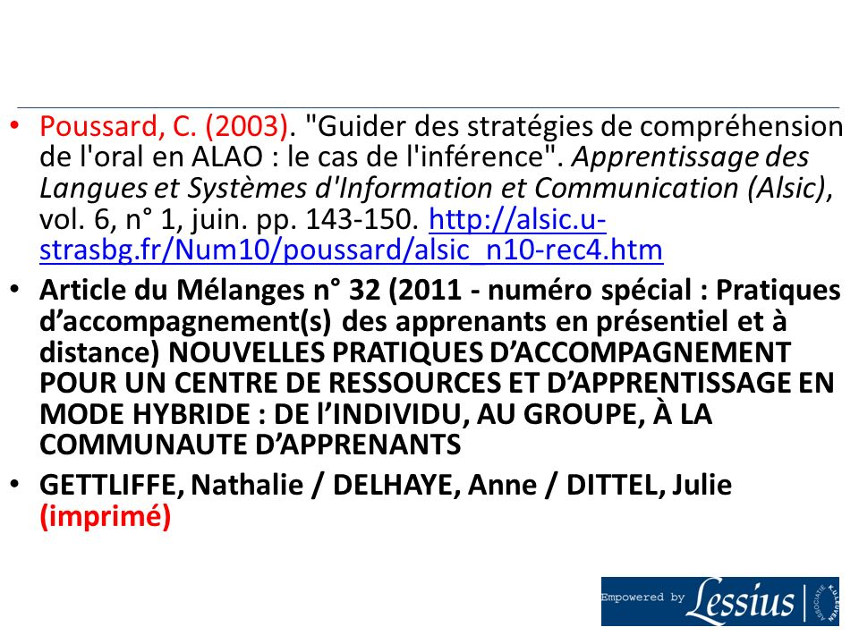 Poussard, C. (2003).
