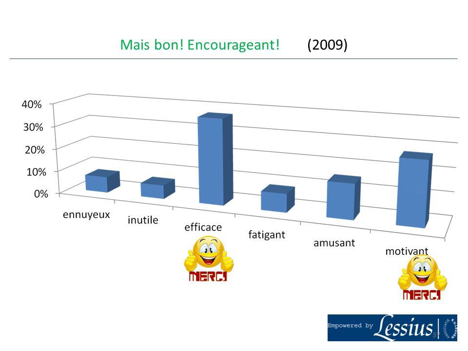 Mais bon! Encourageant! (2009) 37