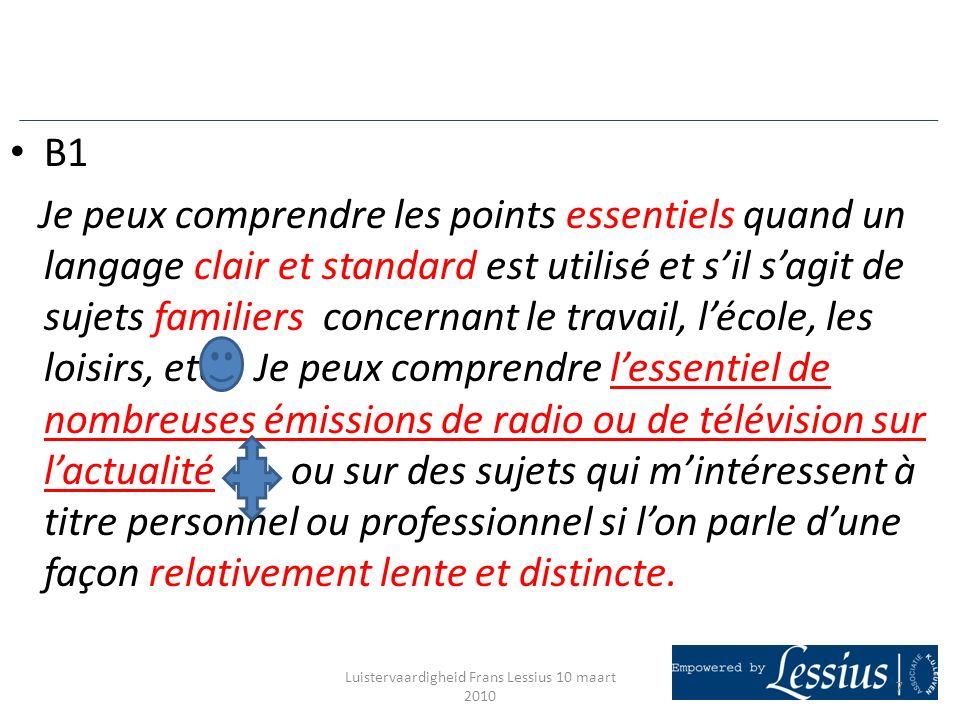 PORTFOLIO DAPPRENTISSAGE (BA 1 ) Objectifs: - Constituer un tableau des progrès, passer de B1 à B2 (cadre européen de référence) - Stimuler lauto apprentissage.