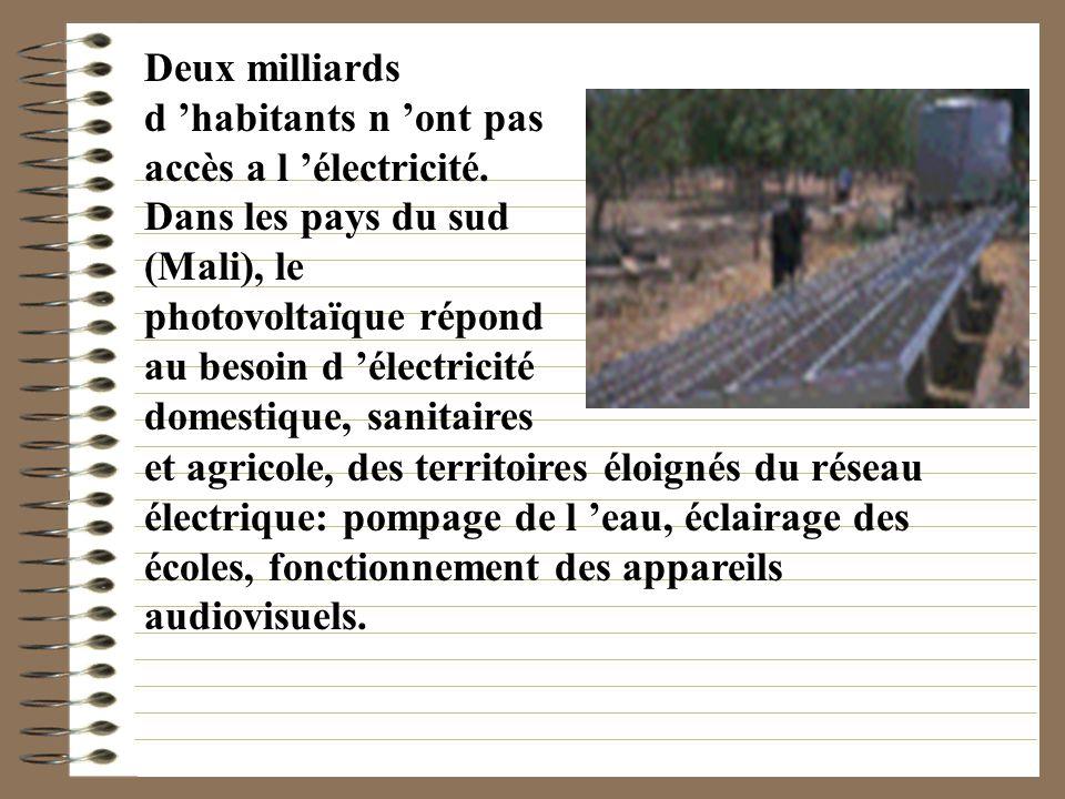 A travers le monde: En France métropolitaine, on trouve plus de 200 installations photovoltaïques, pour l essentiel, des particuliers. Il s agit de be