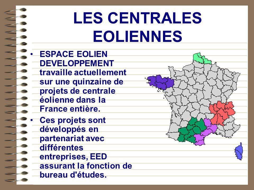 Centrales en développement dans le cadre du programme EOLE 2005 Centrale Éolienne de Plougras 6.0 MW Centrale Éolienne d Edern 6.5 MW Centrale Éolienn