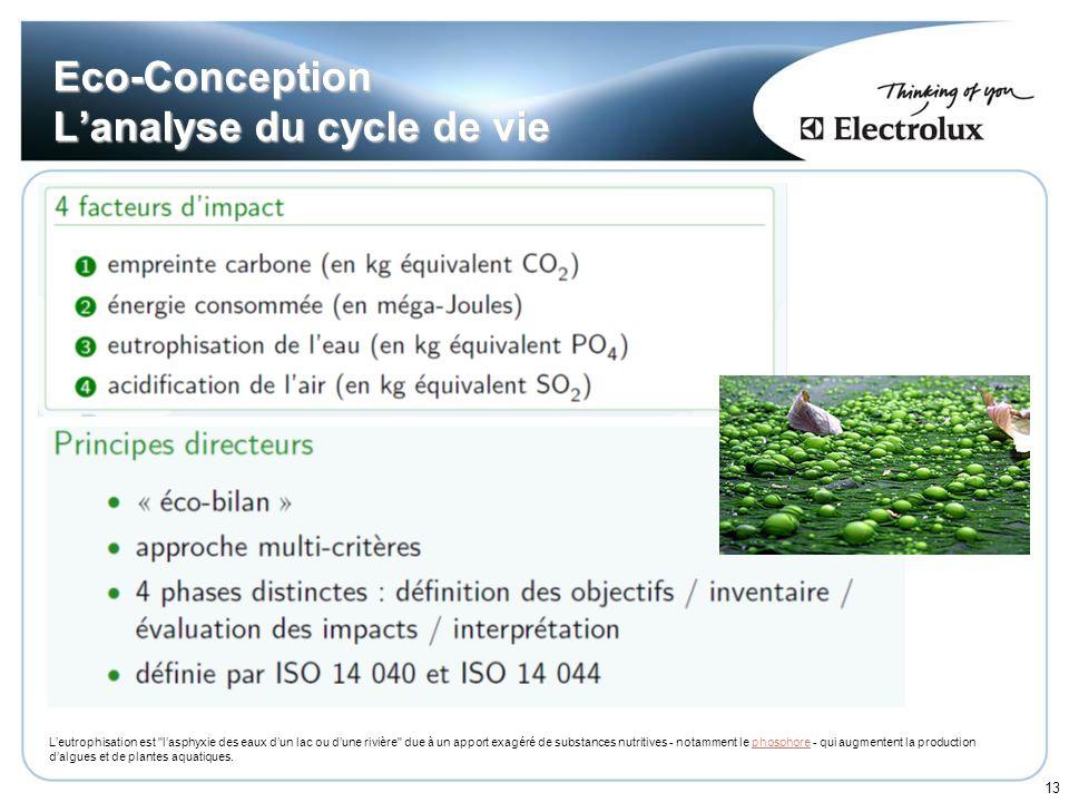 13 Eco-Conception Lanalyse du cycle de vie Leutrophisation est