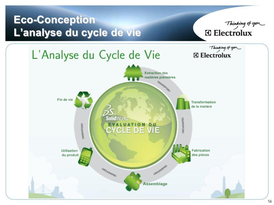14 Eco-Conception Lanalyse du cycle de vie