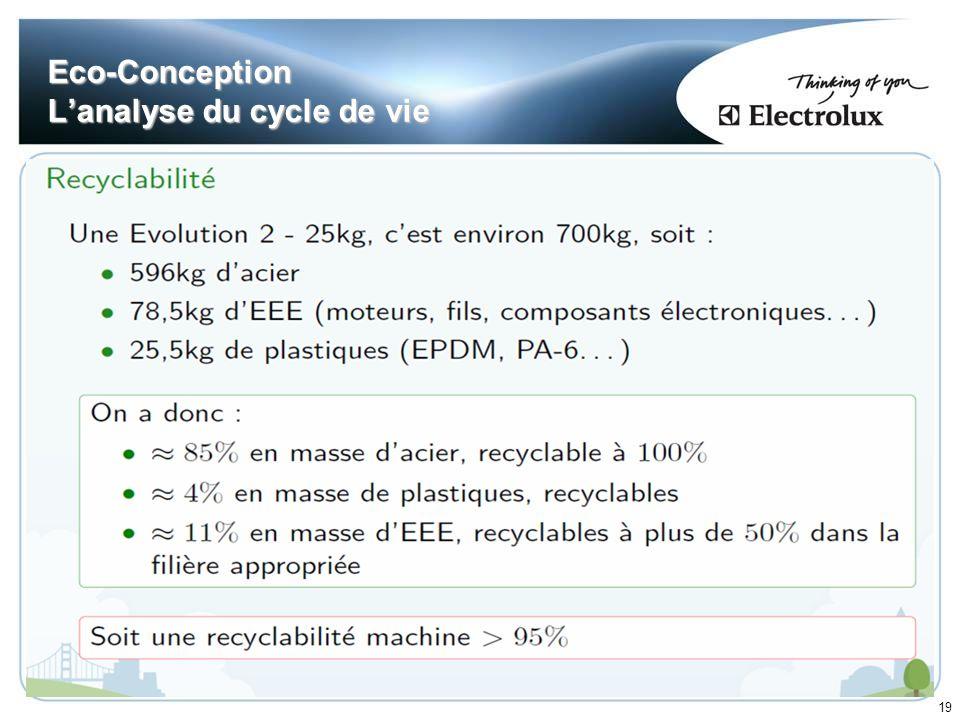 19 Eco-Conception Lanalyse du cycle de vie