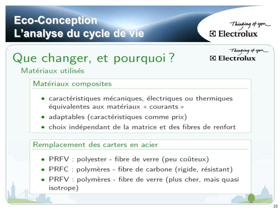 20 Eco-Conception Lanalyse du cycle de vie