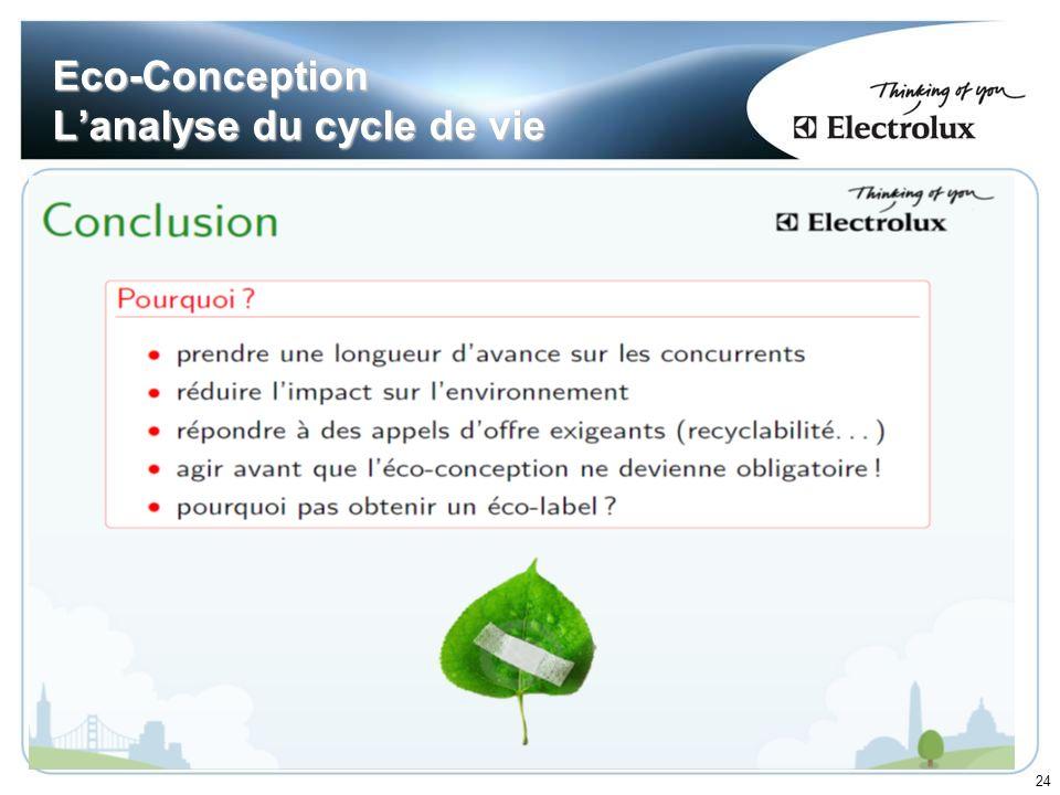 24 Eco-Conception Lanalyse du cycle de vie