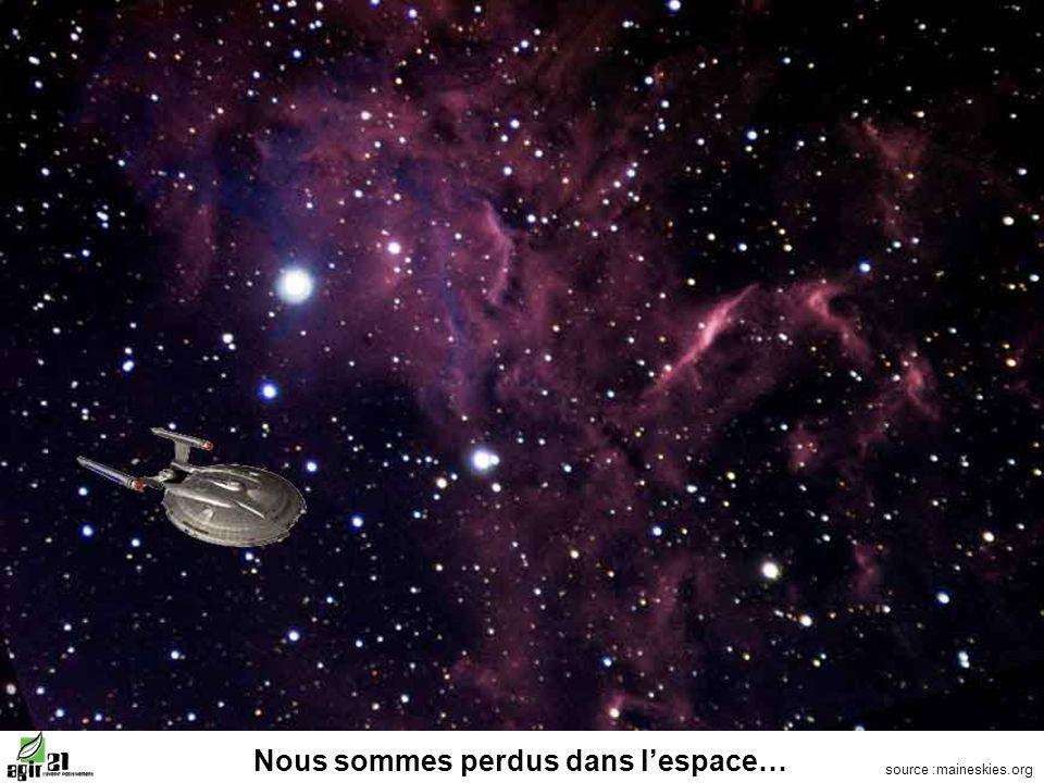 Nous sommes perdus dans lespace… source :maineskies.org