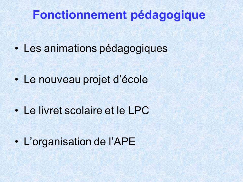 Les animations pédagogiques Organisation générale –2 animations pédagogiques « obligatoires » –2 animations pédagogiques « à choix » –2 animations pédagogiques « libres »