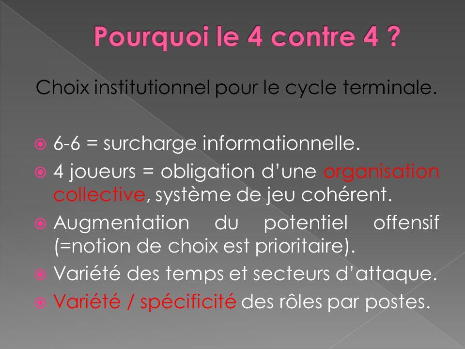 Choix institutionnel pour le cycle terminale.6-6 = surcharge informationnelle.