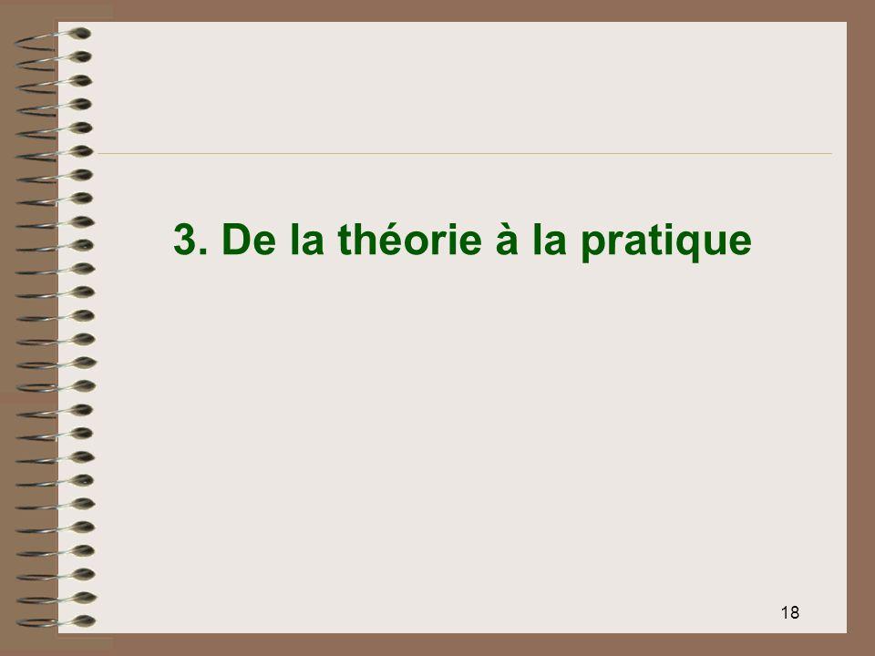 18 3. De la théorie à la pratique