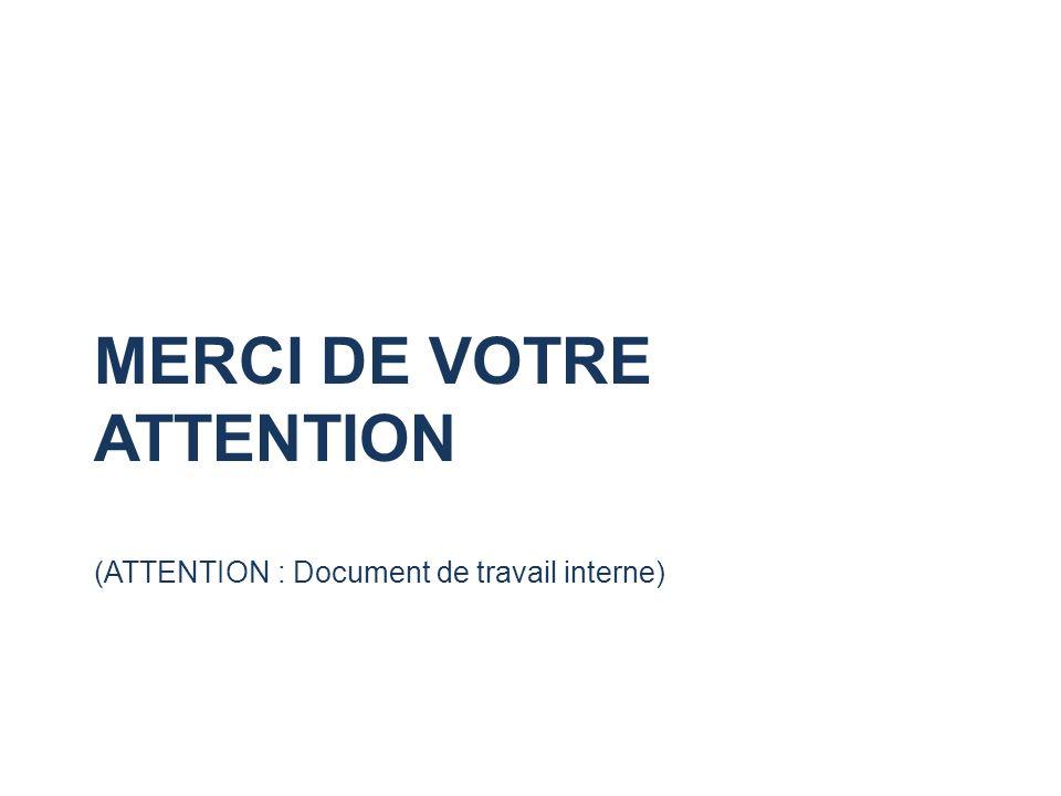 MERCI DE VOTRE ATTENTION (ATTENTION : Document de travail interne)