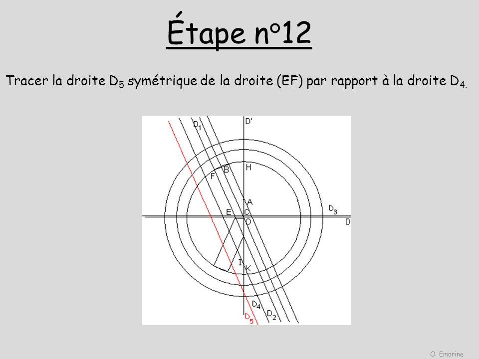 Étape n°12 Tracer la droite D 5 symétrique de la droite (EF) par rapport à la droite D 4. O. Emorine