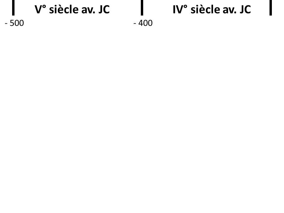 V° siècle av. JCIV° siècle av. JC - 500- 400