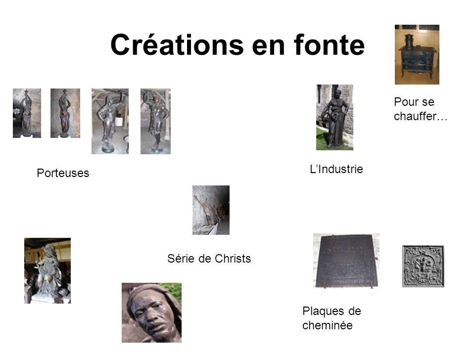 Créations en fonte Porteuses Série de Christs LIndustrie Plaques de cheminée Pour se chauffer…