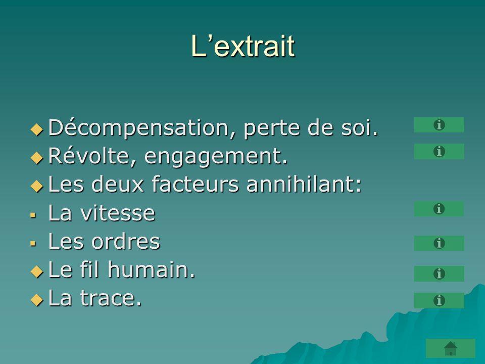 Lextrait Décompensation, perte de soi. Décompensation, perte de soi.