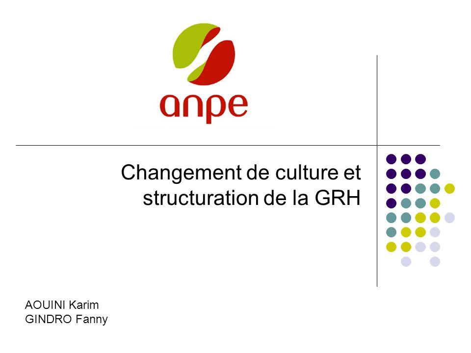 Changement de culture et structuration de la GRH AOUINI Karim GINDRO Fanny