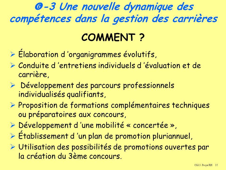 35CG13.Projet RH -3 Une nouvelle dynamique des compétences dans la gestion des carrières COMMENT .