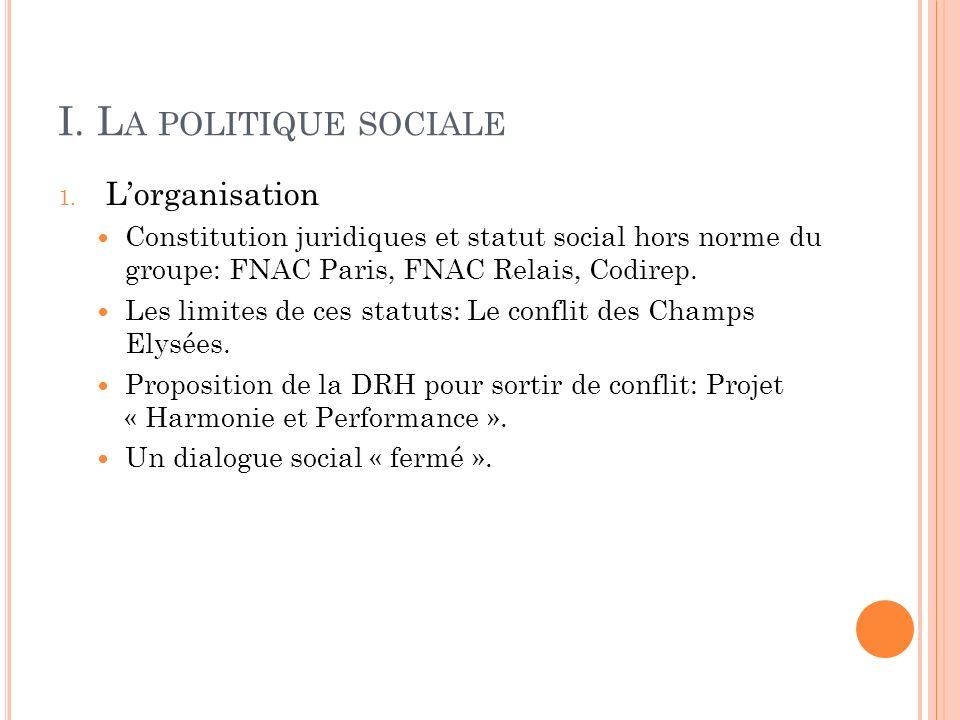 I. L A POLITIQUE SOCIALE 1.