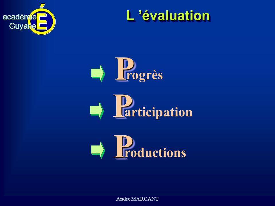 cv académieGuyaneacadémieGuyane André MARCANTL évaluationL évaluationPP PP PP rogrèsarticipation roductions