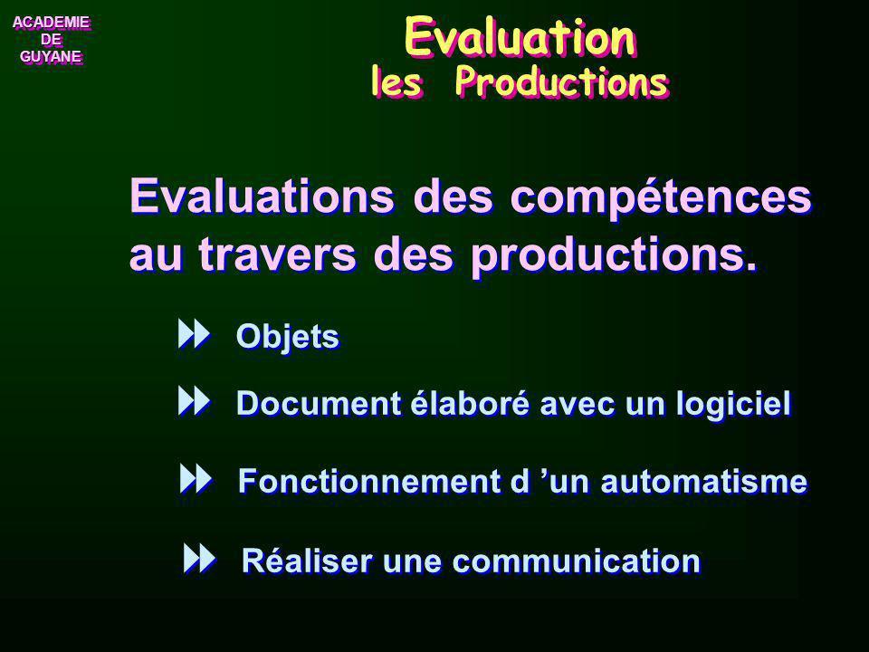 ACADEMIE DE GUYANE ACADEMIE Evaluation de la Participation Réception : Attention Réponse : Volonté de répondre Engagement : Comportement