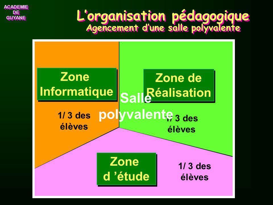 ACADEMIE DE GUYANE ACADEMIE Lorganisation pédagogique La planification 2 ou 3 Activités différentes par séquence. 2 ou 3 Activités différentes par séq