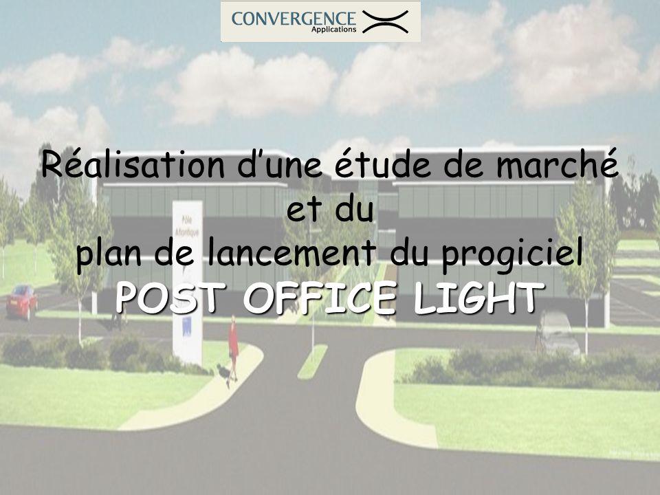 Réalisation dune étude de marché et du plan de lancement du progiciel POST OFFICE LIGHT