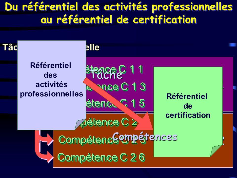 Capacité C 2 Capacité C 2 Capacité C 1 Capacité C 1 Du référentiel des activités professionnelles au référentiel de certification Tâche professionnell