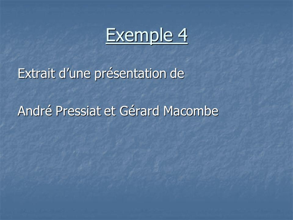 Exemple 4 Extrait dune présentation de André Pressiat et Gérard Macombe