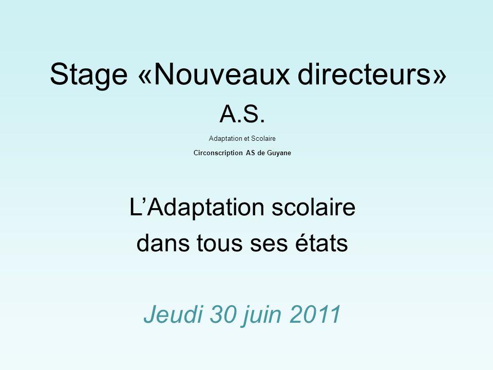 Stage «Nouveaux directeurs» A.S.
