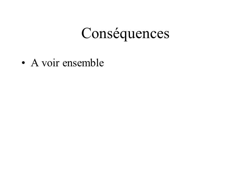 Conséquences A voir ensemble