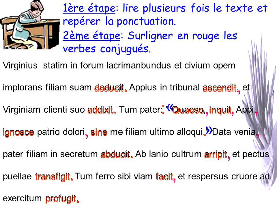Virginius statim in forum lacrimanbundus et civium opem implorans filiam suam deducit.