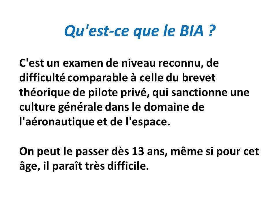 Qu est-ce que le BIA .