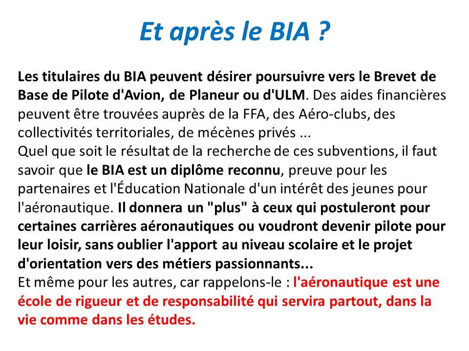 Et après le BIA .