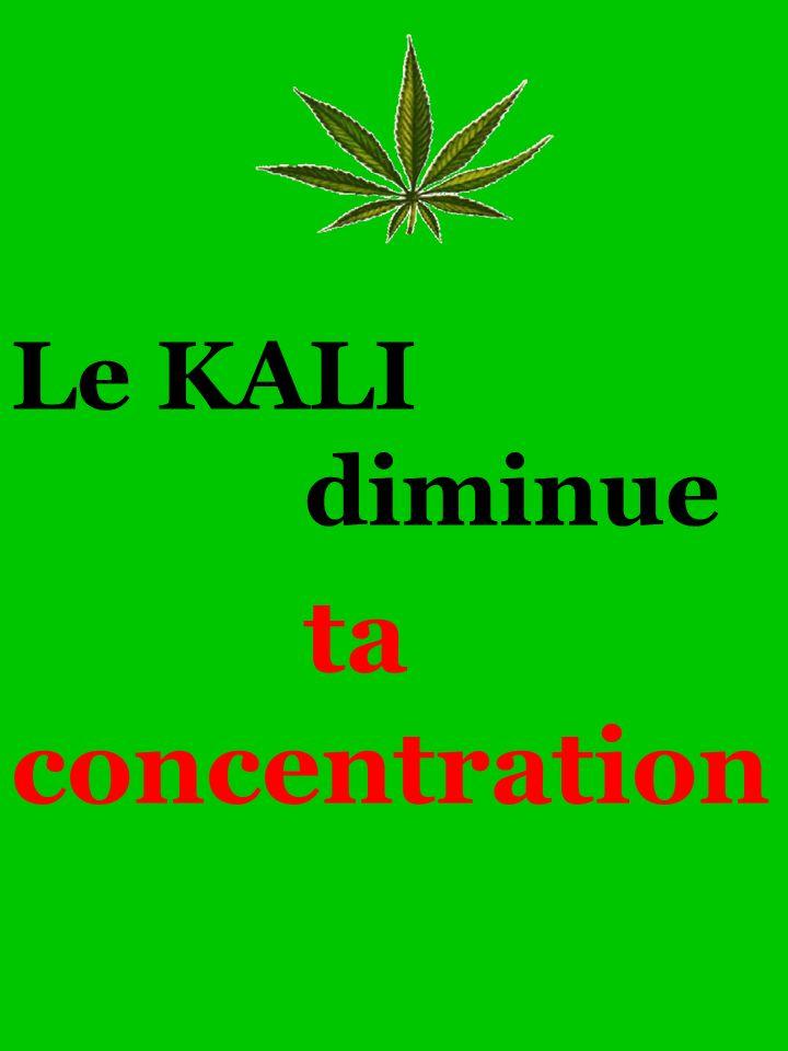 Le KALI diminue ta concentration