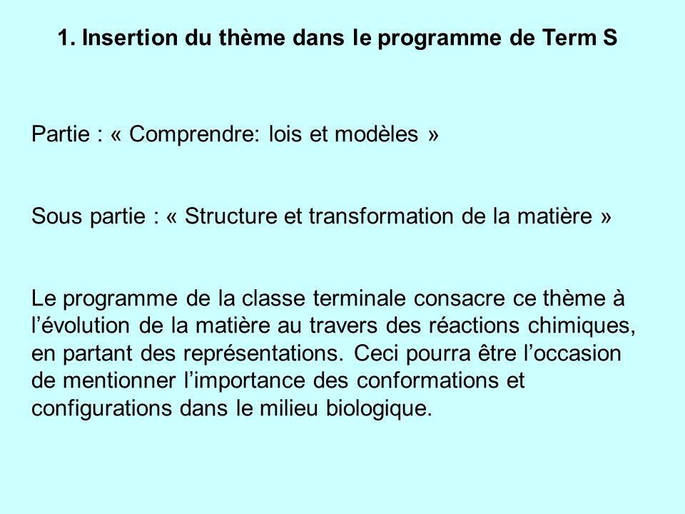 Progression Notions et contenus Compétences attendues 3/ Retour sur Pasteur: les stéréoisomères de l acide tartrique (2 C asymétriques) modélisation: 4 formes.