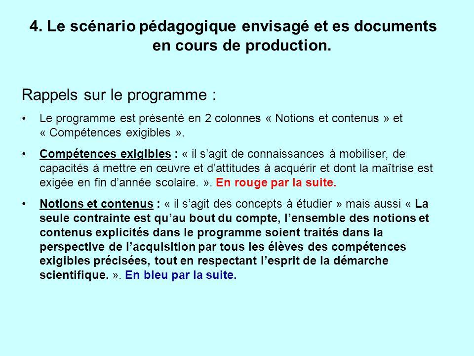 ATTENTION : ce que nous proposons nest pas un plan de cours mais un scénario pédagogique !!.