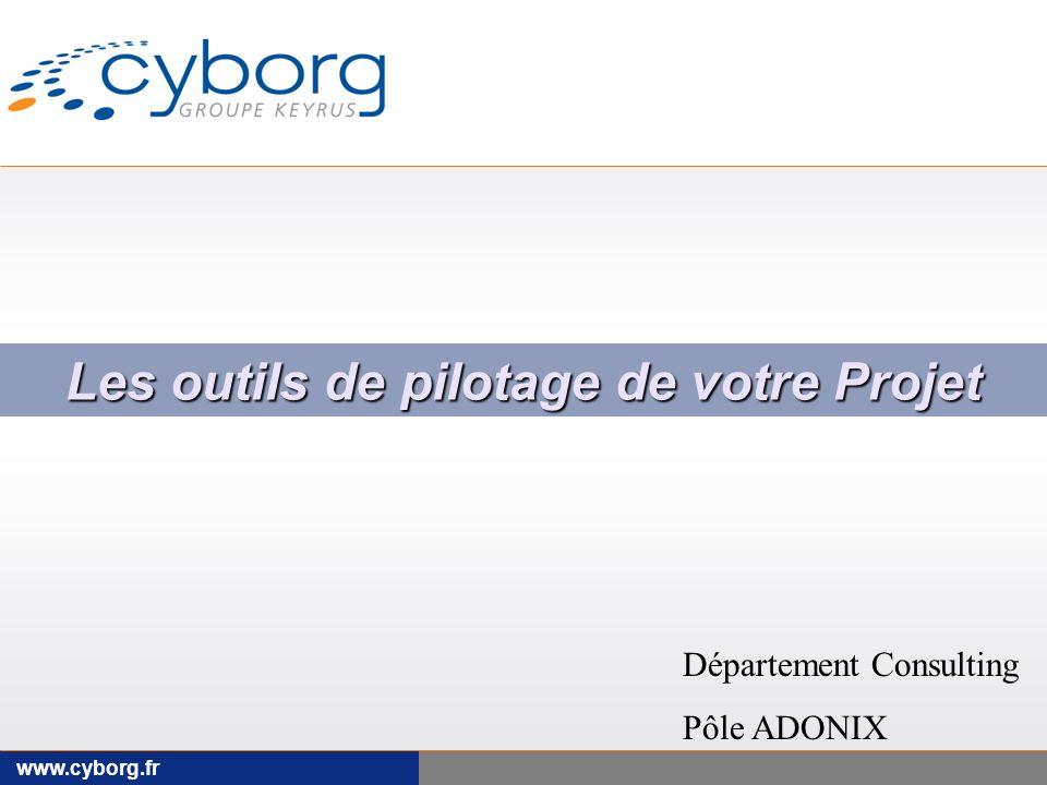 www.cyborg.fr Les outils de pilotage de votre Projet Département Consulting Pôle ADONIX