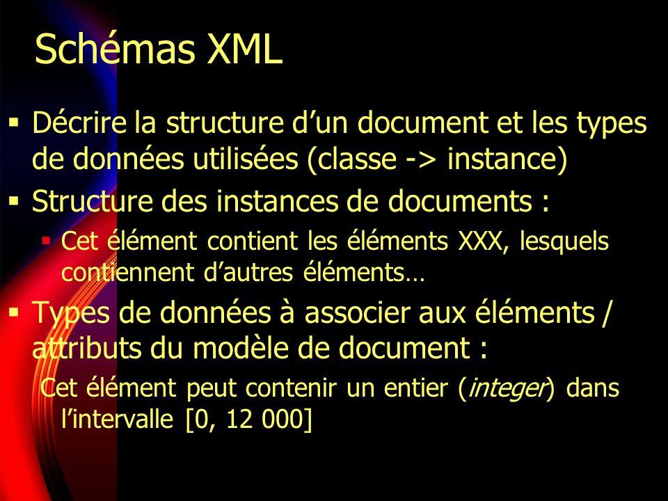 Validation dun document XML Contrôle syntaxique Suntaxis : ranger ensemble, ensemble des caractères et mots significatifs du langage Rôle et disposition des mots dans une phrase Vocabulaire des DTD : <.