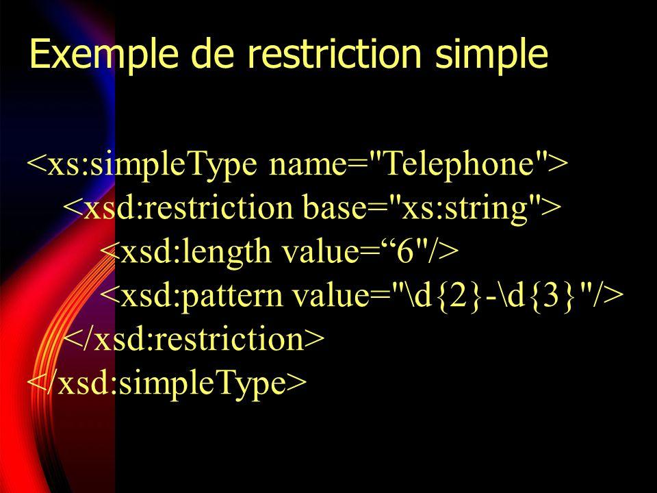 Exemple de restriction plus complexe