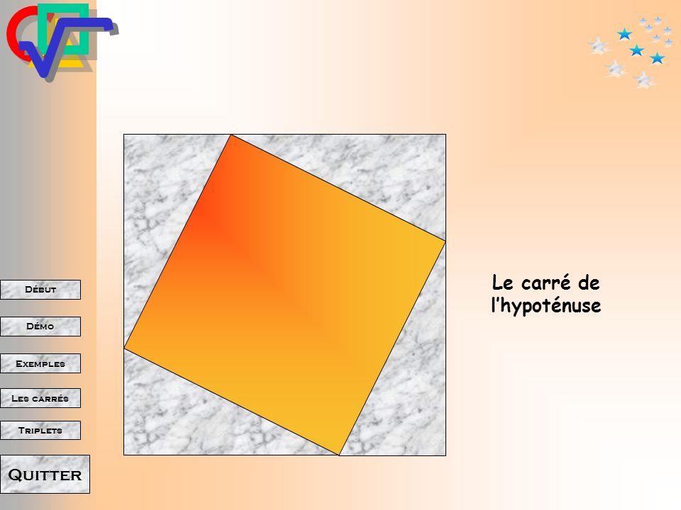Début Démo Triplets Exemples Les carrés Quitter Ainsi sont apparus les carrés des deux côtés de langle droit.