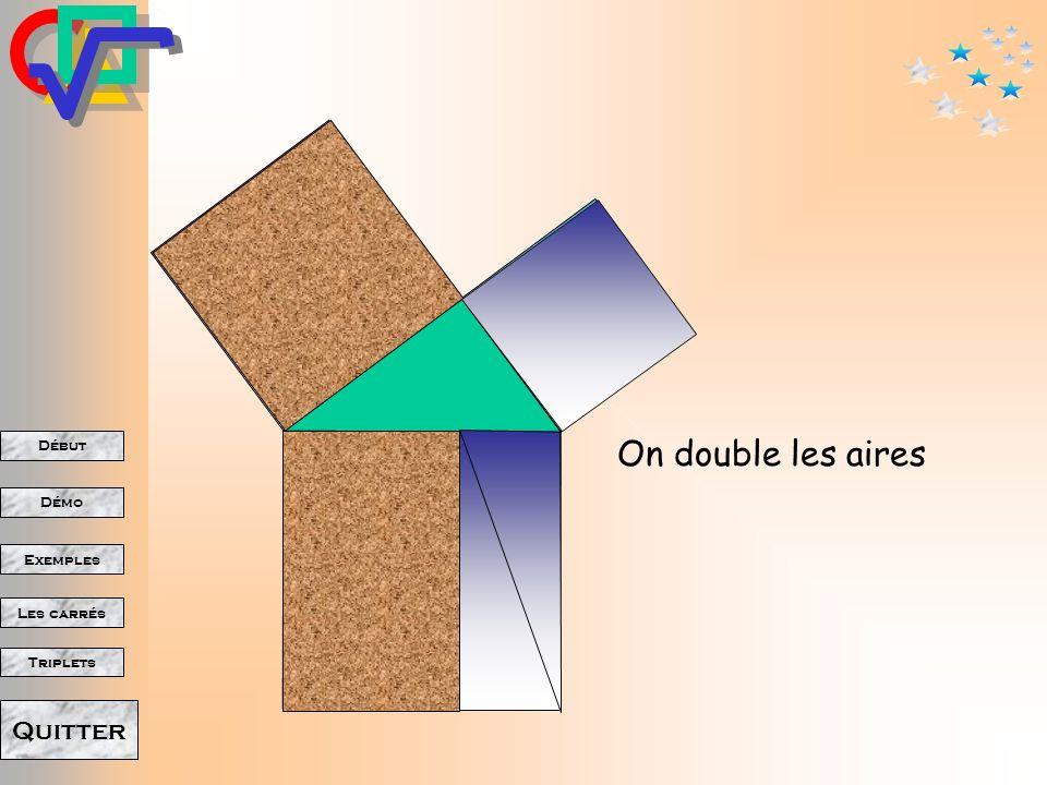 Début Démo Triplets Exemples Les carrés Quitter On le déplace
