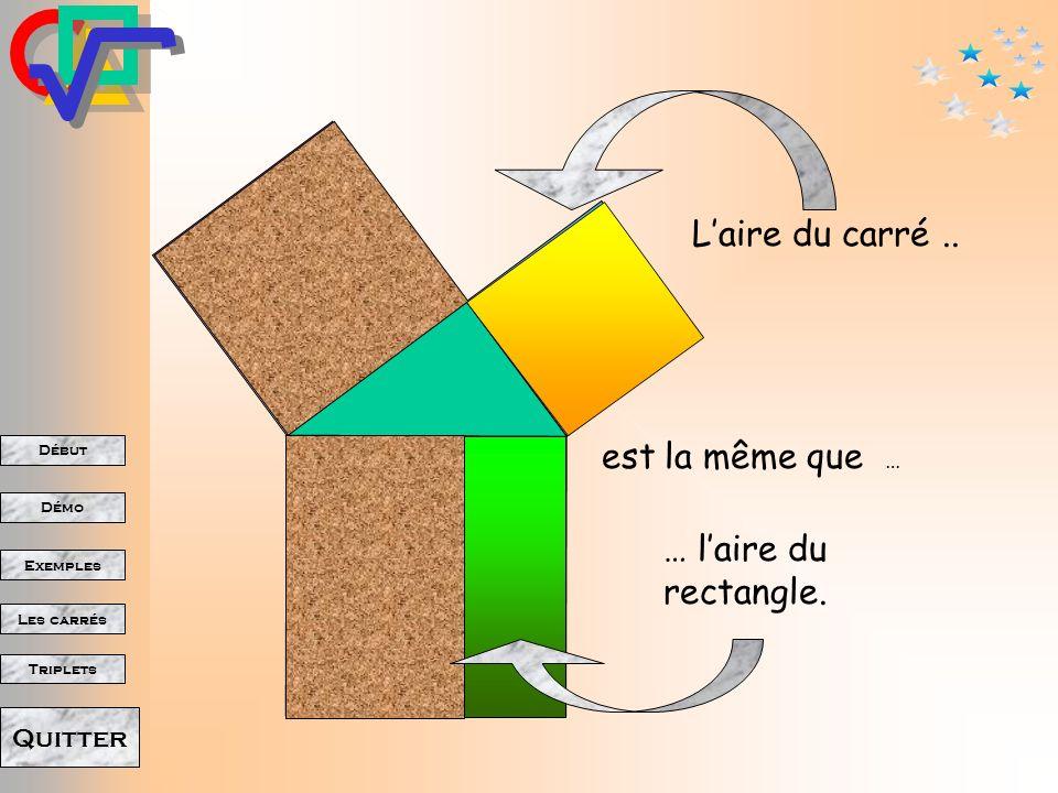 Début Démo Triplets Exemples Les carrés Quitter On double les aires