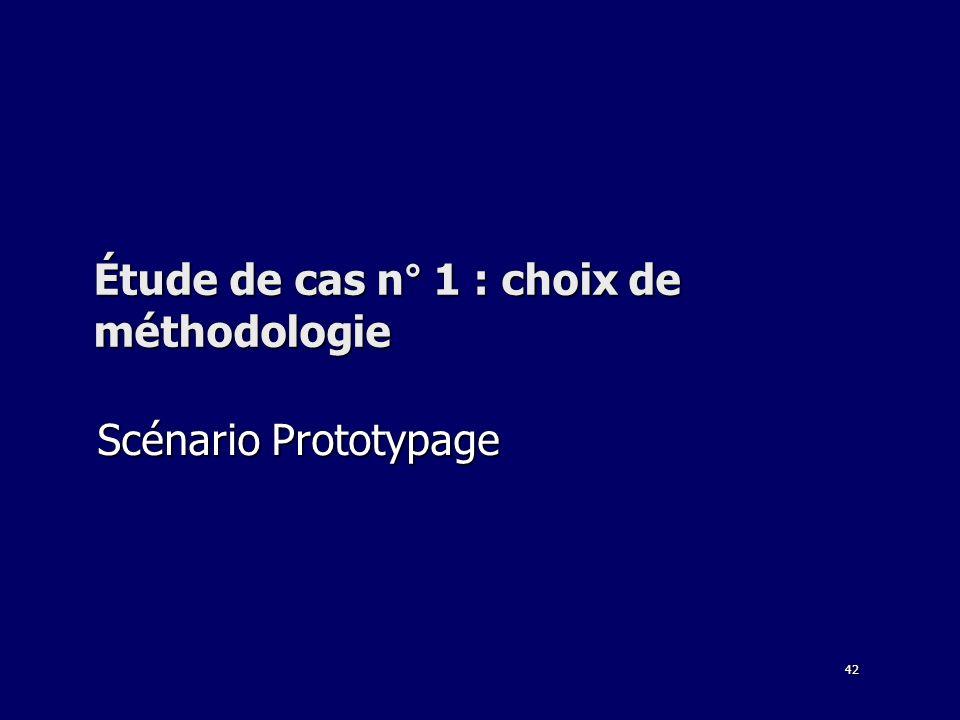 42 Étude de cas n° 1 : choix de méthodologie Scénario Prototypage