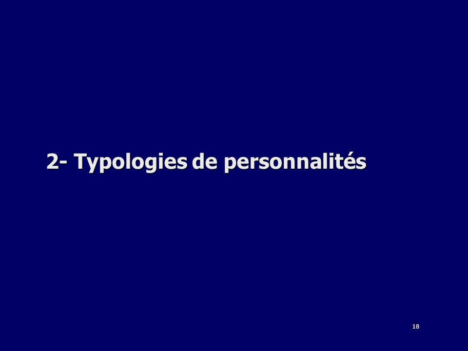 18 2- Typologies de personnalités