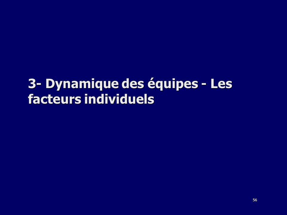56 3- Dynamique des équipes - Les facteurs individuels